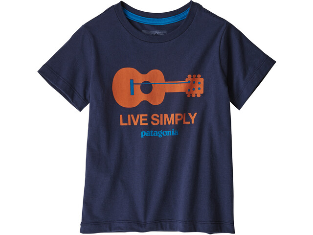 Patagonia Live Simply Organic T-Shirt Kinder live simply guitar/neo navy